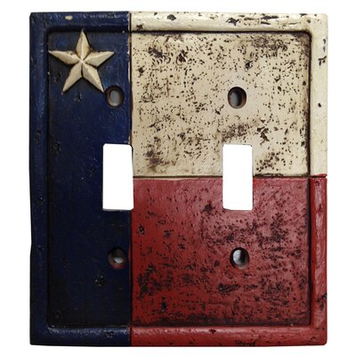 Texas Double Switch Plate Cover (Set of 4)
