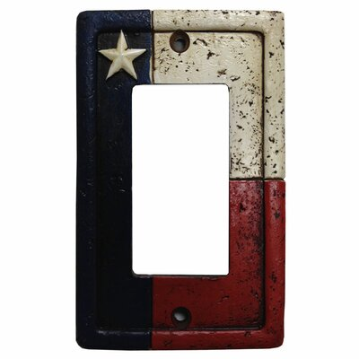 Texas Single Rocker Switch Plate Cover (Set of 4)