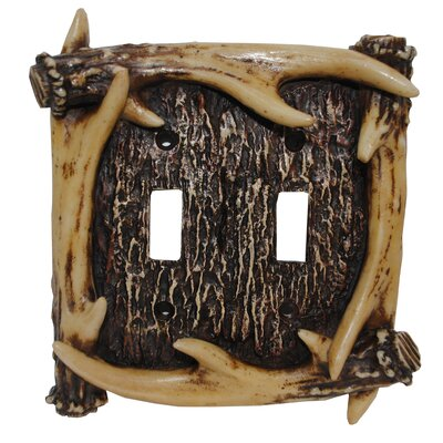 Antler Double Switch Plate (Set of 4)