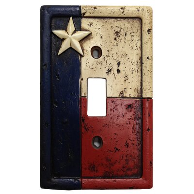Texas Single Switch Plate Cover (Set of 4)