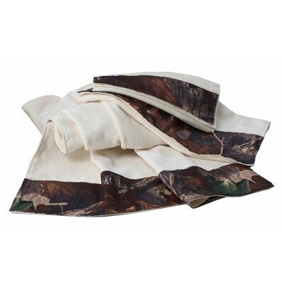 Camo 3 Piece Towel Set Color: Cream