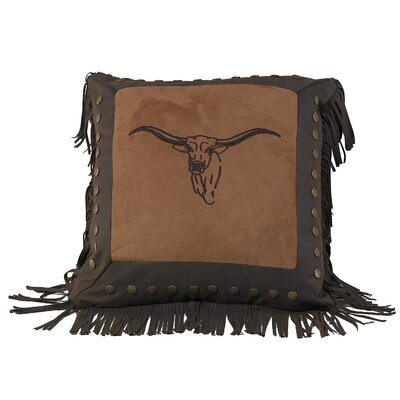 Embroidery Steer Throw Pillow