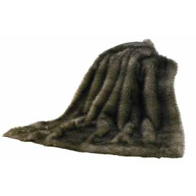 Artesia Chinchilla Faux Fur Throw