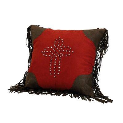 Cross Studded Throw Pillow