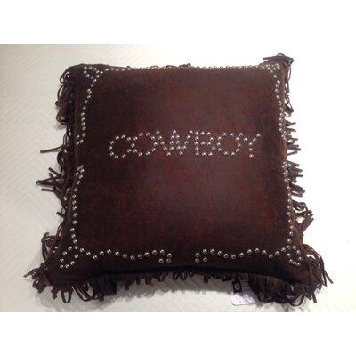 Cowboy Studded Throw Pillow
