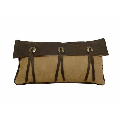 Alexis Lumbar Pillow Color: Chocolate and Tan