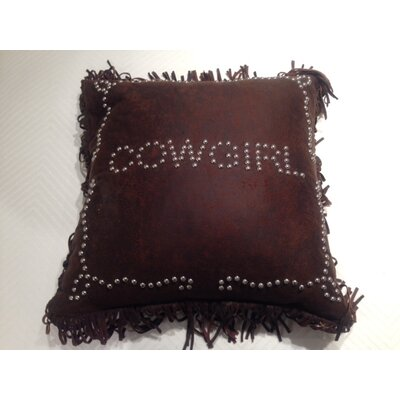 Derrick Cowgirl Studded Throw Pillow