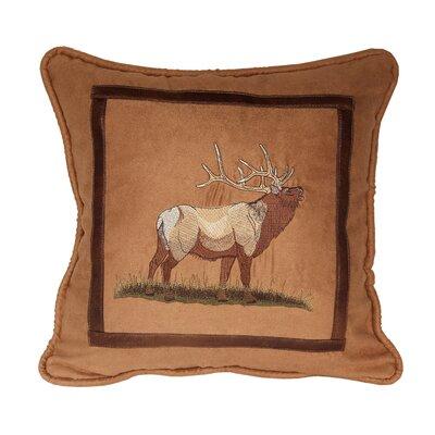 Sheridan Elk Lodge Throw Pillow