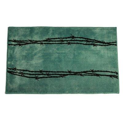 Barbwire Turquoise Area Rug