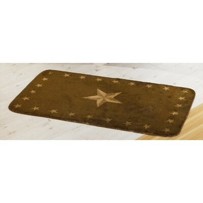 Alexis Star Dark Chocolate Southwestern Area Rug Rug Size: 26 x 42