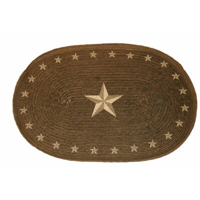 Star Jute Chocolate Area Rug