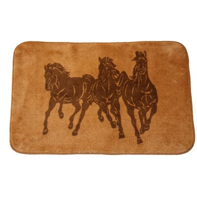 Spahn 3 Horse Light Chocolate Area Rug Rug Size: 26 x 42