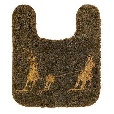 Team Roping Contour Bath Rug
