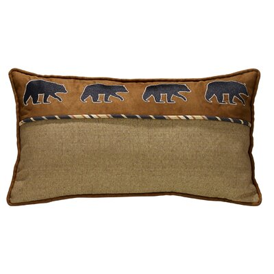 Grotto Bear Rectangular Lumbar Pillow