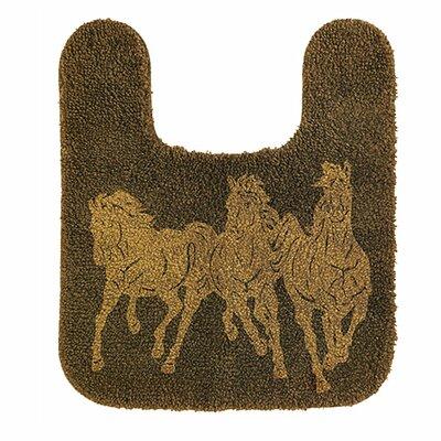 Wolfe Horse Contour Bath Rug