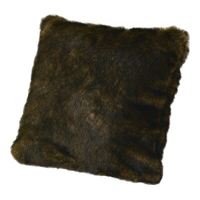 Faux Mink Throw Pillow Color: Brown