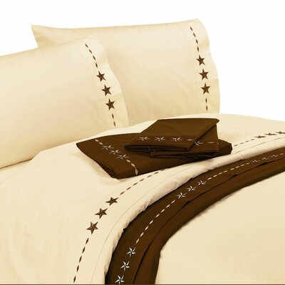 Alexis Star 350 Thread Count Sheet Set Color: Cream, Size: Queen