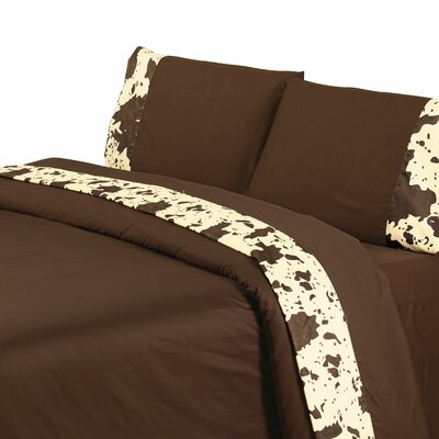 Bader 350 Thread Count Sheet Set Size: Twin, Color: Chocolate