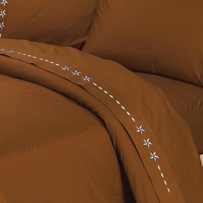 Alexis Star 350 Thread Count Sheet Set Size: Queen, Color: Copper
