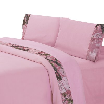 Pink Oak Camo Sheet Set Size: Twin