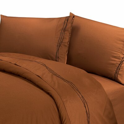 Galyean 350 Thread Count Sheet Set Size: Queen, Color: Copper