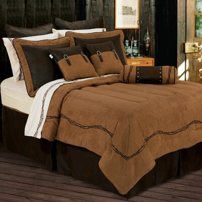 Galyean Solid Embroidered Comforter Set Size: Super Queen