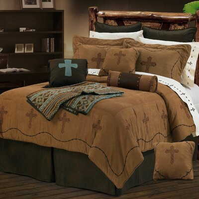 Barbwire 7 Piece Crosses Comforter Set Size: Full