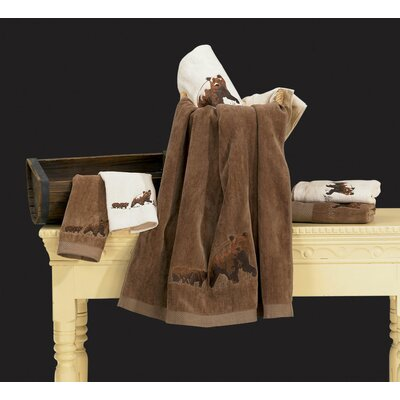 Bear 3 Piece Towel Set Color: Cream