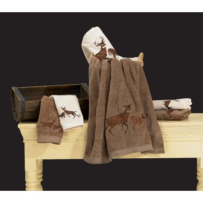 Deer 3 Piece Towel Set Color: Brown