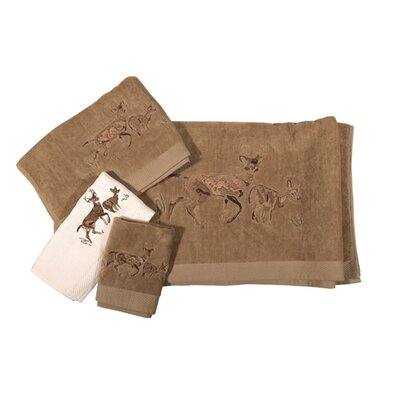 Lynnhaven Deer 3 Piece Towel Set Color: Cream