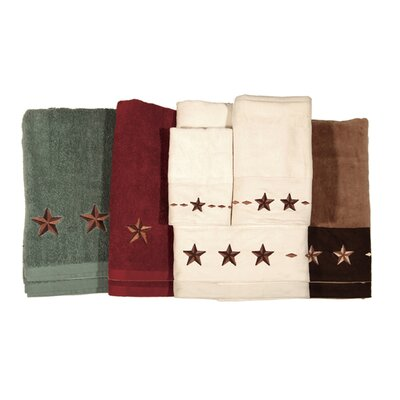 Alexis 3 Piece Towel Set Color: Brown