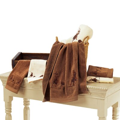 Phelps Embroidered Roper 3 Piece Towel Set Color: Cream
