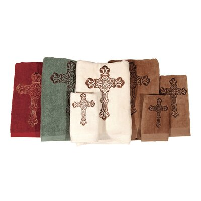 Aurthur Embroidered 3 Piece Towel Set Color: Cream