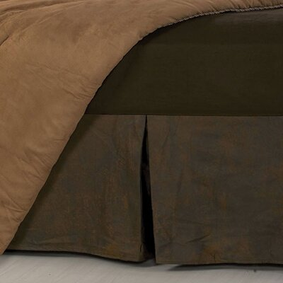 Glenn Faux Leather Bed Skirt Size: Queen