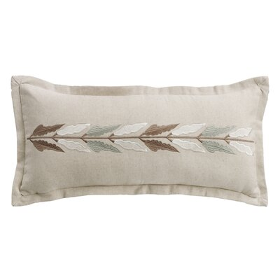 Bolton Embroidered Linen Lumbar Pillow