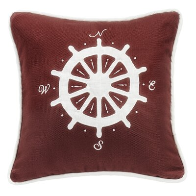 Malabar Compass Embroidery Throw Pillow