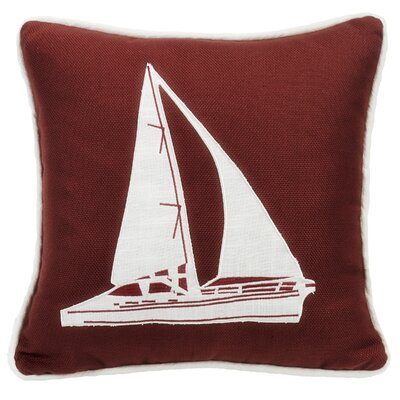 Malabar Sailboat Embroidery Throw Pillow