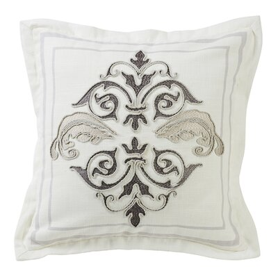 Ponte Square Outlined Embroidered Throw Pillow