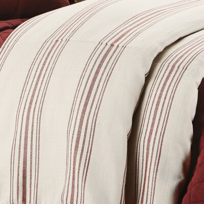 Hogan Stripe Duvet Cover Size: King, Color: Red
