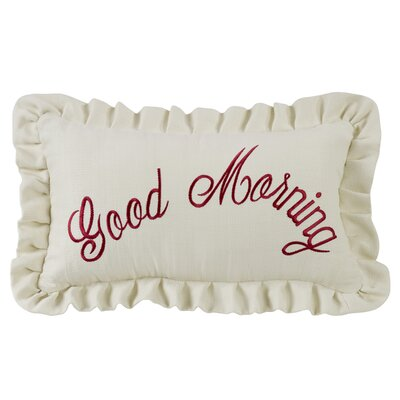 Noran Good Morning Embroidery Lumbar Pillow