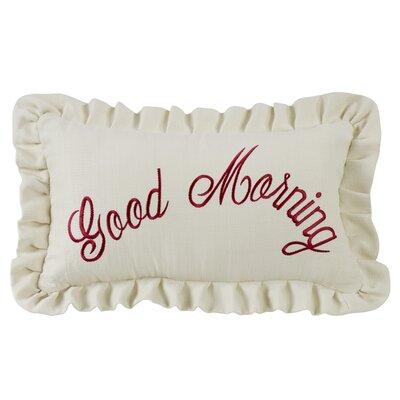 Zabarskaya Good Morning Embroidery Lumbar Pillow