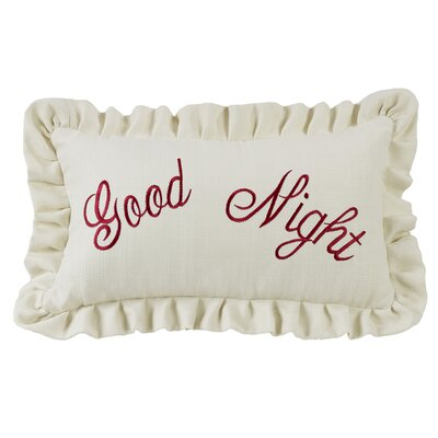 Zabarskaya Good Night Embroidery Lumbar Pillow