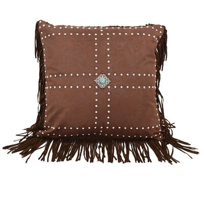 Glenn Faux Leather Throw Pillow