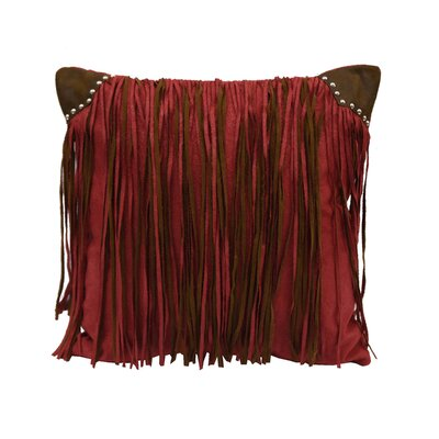 Odonnell Fringed Faux Suede Throw Pillow