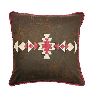 Glenn Faux Leather Throw Pillow