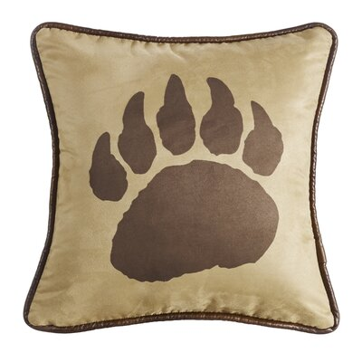 Lopez Bear Claw Suede Throw Pillow
