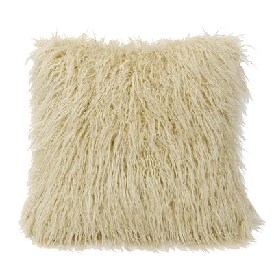 Odonnell Mongolian Faux Fur Throw Pillow Color: Cream