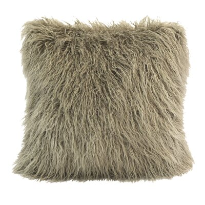 Odonnell Mongolian Faux Fur Throw Pillow Color: Taupe