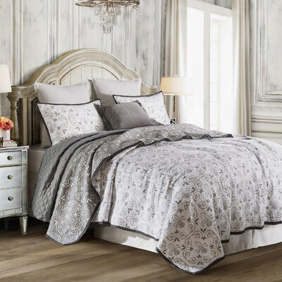 Ponte 3 Piece Quilt Set Size: Twin