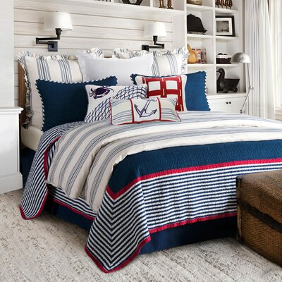 Malabar 100% Cotton 3 Piece Quilt Set Size: Full/Queen
